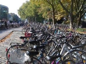 ClimCom │Bicicletas delante del comedor universitario en Münster (fuente: Vanessa Albrecht/2007)