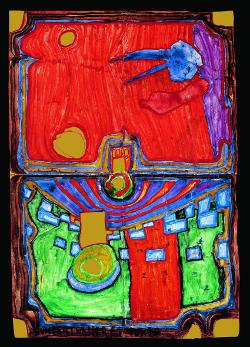 Hundertwasser 487 | Kleiner Palast der Krankheit, 1961 | Privatbesitz, Japan | © KUNST HAUS WIEN, 2011