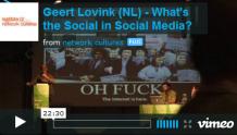 Geert Lovink   What's the Social in Social Media?