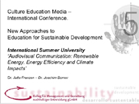New approaches to education of sustainable development