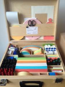 Box of art materials