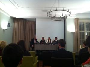 A public lecture by Prof. Dr. Klaus Töpfner, Dr. Isabel Cavelier, Ana Bozena Sabogal and Luis Rios