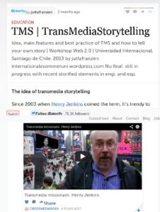 TMS Transmediastorytelling | storify