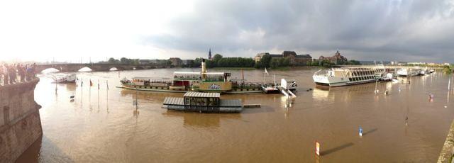 Elbehochwasser 2013 in meiner Heimatstadt Dresden