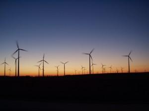 Windparklandschaft in Mecklenburg